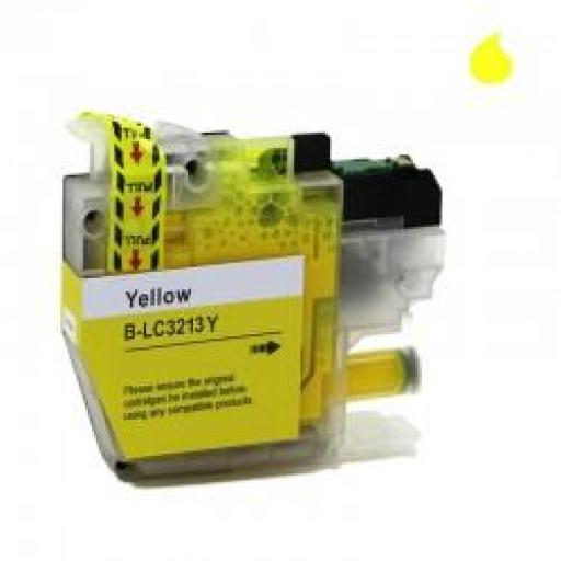 LC-3213/3211Y CARTUCHO GENERICO COMPATIBLE CON BROTHER AMARILLO (10ML)