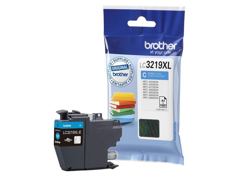 BROTHER cartucho inyección cián 3000 páginas MFC-J6530DW/J6930DW LC-3219XLC