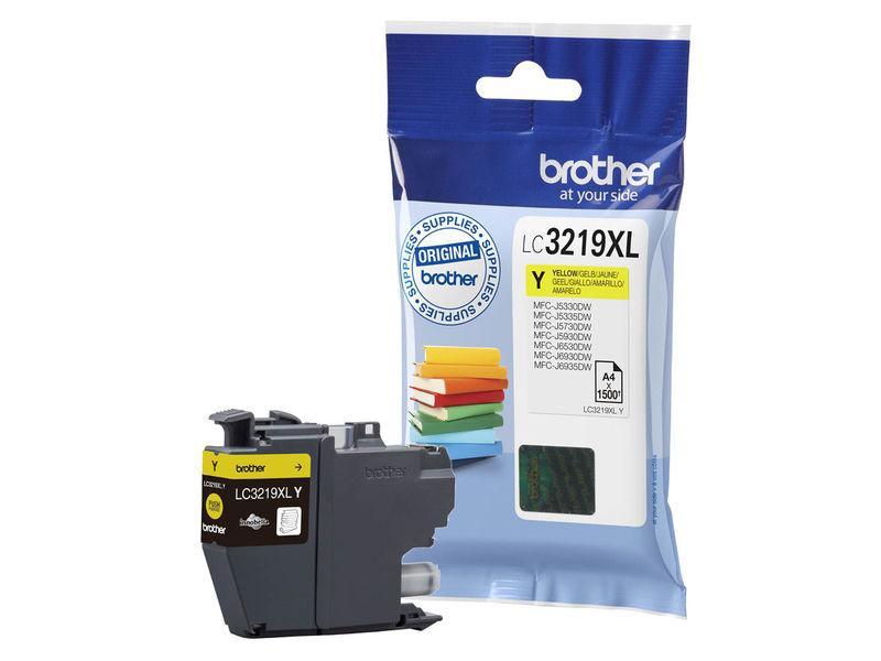 BROTHER cartucho inyección amarillo 3000 páginas MFC-J6530DW/J6930DW LC-3219XLY
