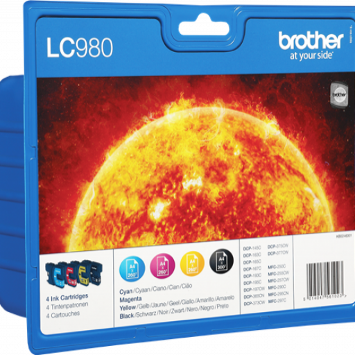 LC-980VALBP(LC980VALBP INKJET BROTHER Brother DCP-145C/DCP-165C, Pack 4 cartucho [0]
