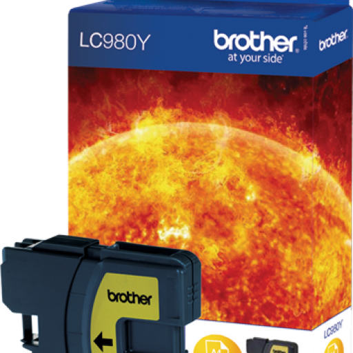 BROTHER Cartuchos inyeccion LC980Y Amarillo Blister LC980YBP