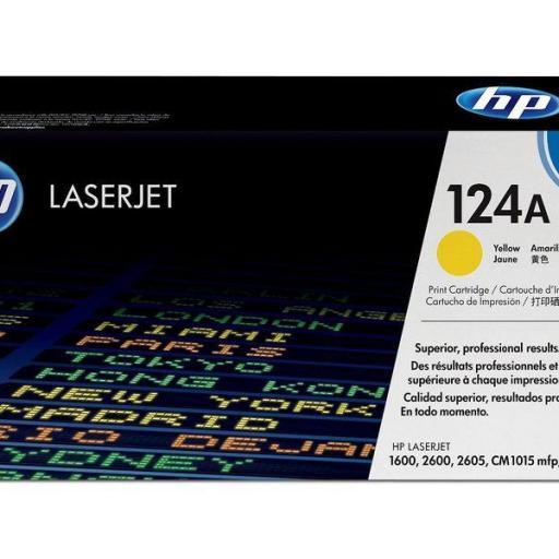 HP Toner Laser 124A Amarillo Q6002A