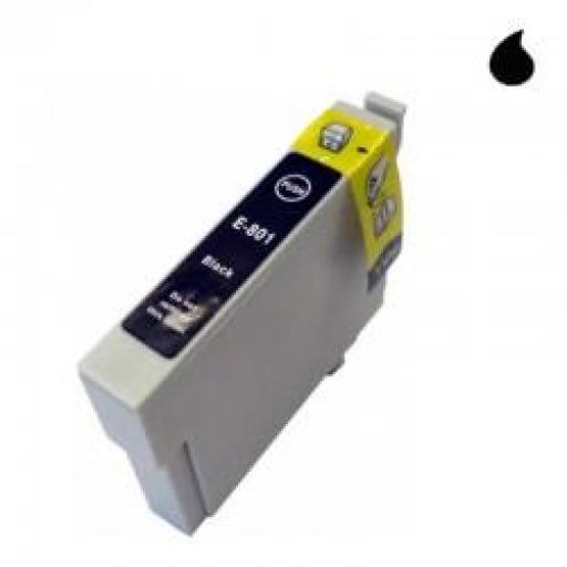 T0801 CARTUCHO DE TINTA GENERICO COMPATIBLE CON EPSON NEGRO (15 ML)