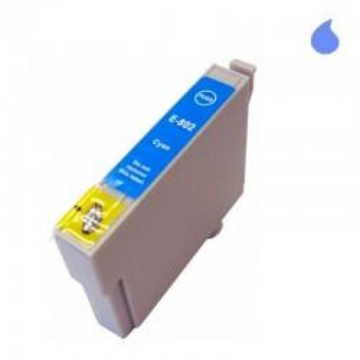 T0802 CARTUCHO DE TINTA GENERICO COMPATIBLE CON EPSON CYAN (13,5 ML)