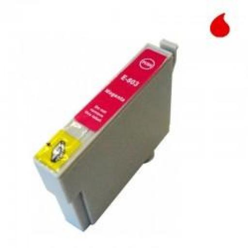 T0803 CARTUCHO DE TINTA GENERICO COMPATIBLE CON EPSON MAGENTA (13,5 ML)