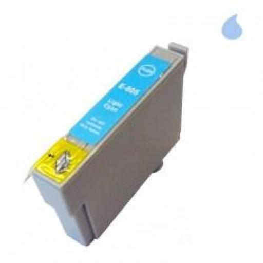 T0805 CARTUCHO DE TINTA GENERICO COMPATIBLE CON EPSON LIGHT CYAN (13,5 ML)