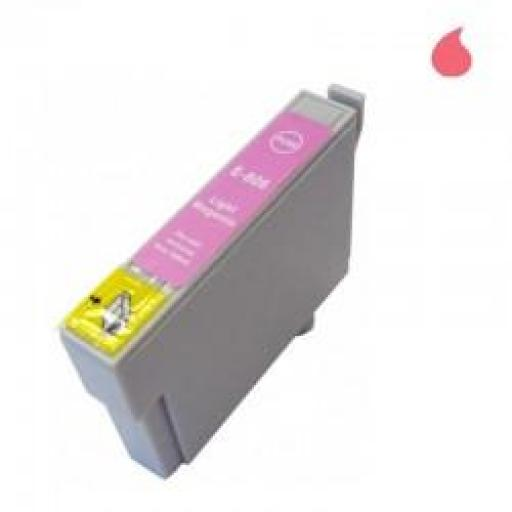 T0806 CARTUCHO DE TINTA GENERICO COMPATIBLE CON EPSON LIGHT MAGENTA (13,5 ML)