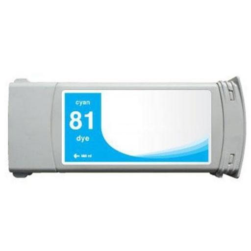 HP 81 Cian Cartucho de Tinta compatible - Reemplaza C4931A 680 ml