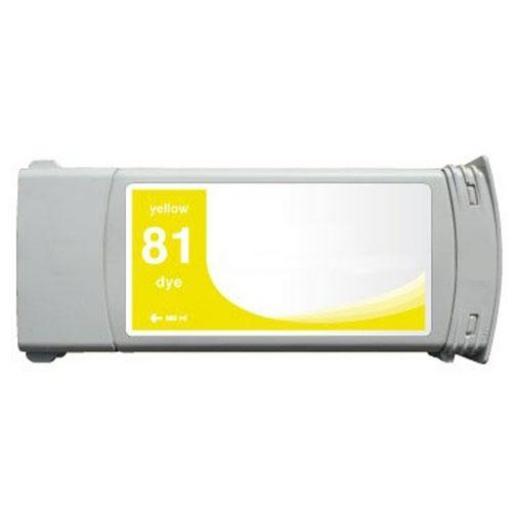 HP 81 amarillo Cartucho de Tinta compatible - Reemplaza C4931A 680 ml