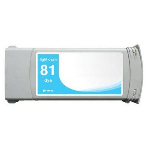 HP 81Cyan Light   Cartucho de Tinta compatible - Reemplaza C4934A 680 ml