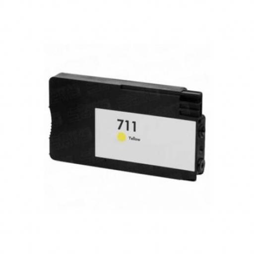 HP 711 V4/V5 amarillo Cartucho de Tinta Generico - Reemplaza CZ132A