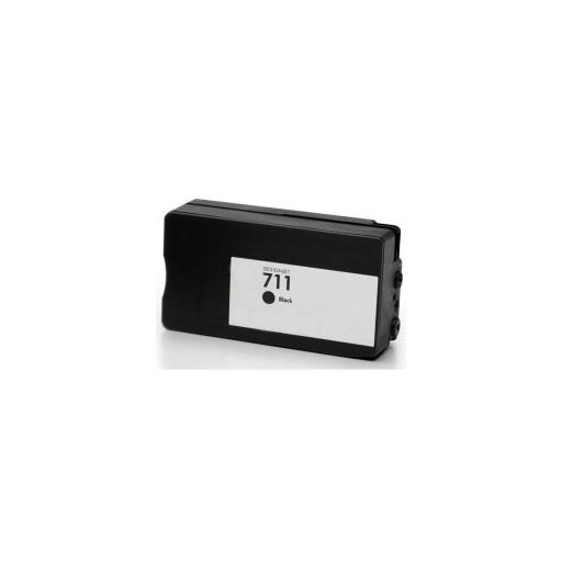 HP 711XL V4/V5 Negro Cartucho de Tinta Generico - Reemplaza CZ133A/CZ129A