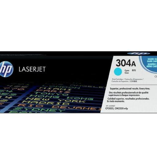 HP TONER LASER 304A CYAN CC531A