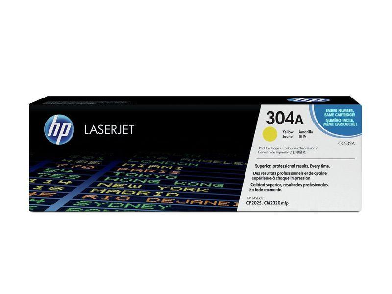 HP Toner Laser 304A Amarillo CC532A HP TONER LASER 304A AMARILLO
