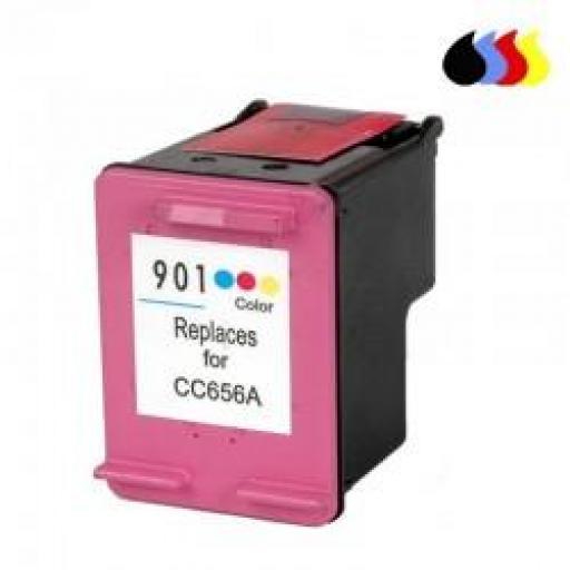 CC656AE CARTUCHO RECICLADO HP COLOR (N 901XLCL) 18 ML
