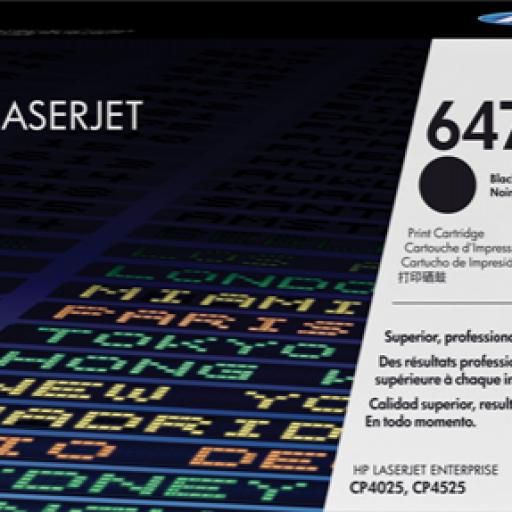 HP Toner Laser 647A Negro CE260A