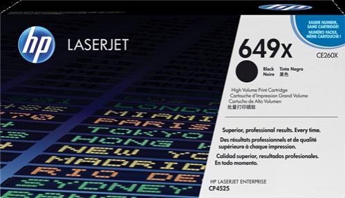 HP Toner Laser 649X Negro CE260X