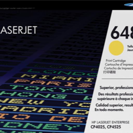 HP Toner Laser 648A Amarillo CE262A
