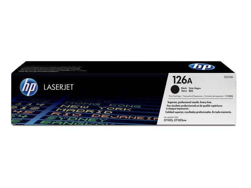 HP Toner Laser 126A Negro 1.200pg CE310A