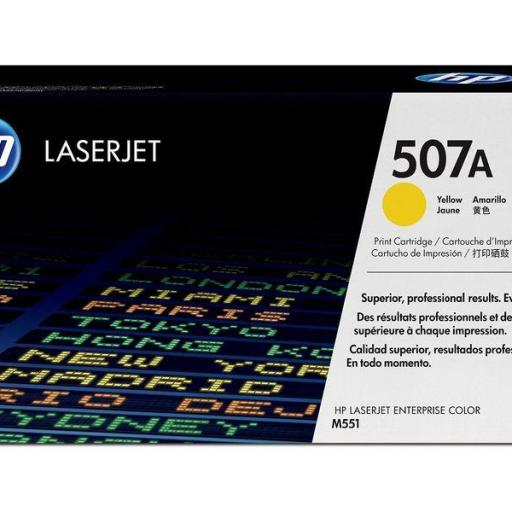 HP Toner Laser 507A Amarillo CE402A