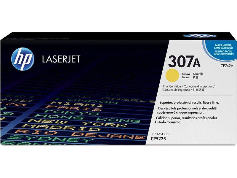 HP Toner Laser 307A Amarillo CE742A