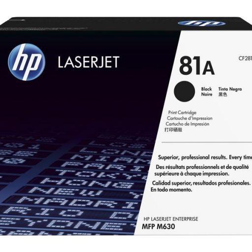 HP TonerLaserjet 81A negro
