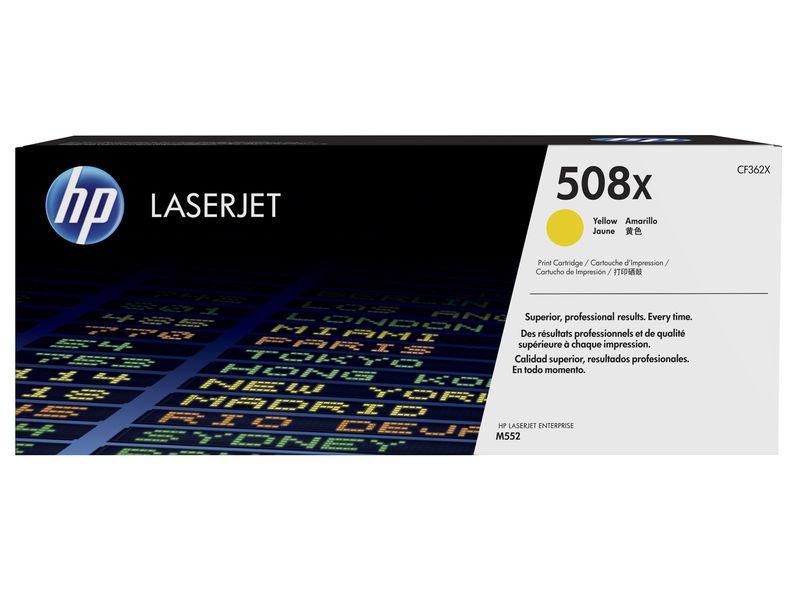 HP Toner laserjet original 508X alta capacidad amarillo (CF362X)