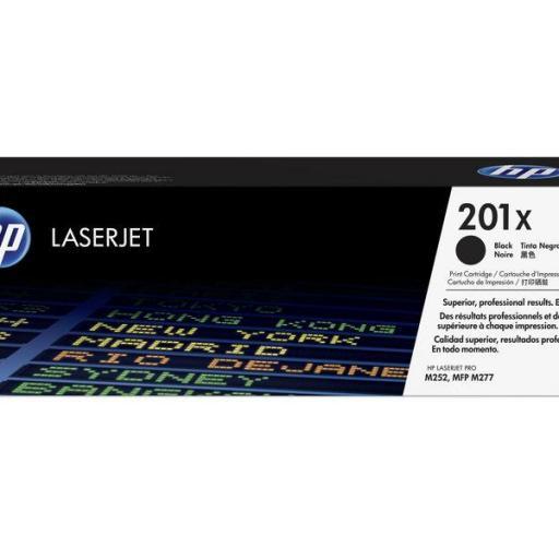 HP TONER LASERJET ORIGINAL 201X ALTA CAPACIDAD NEGRO CF400X