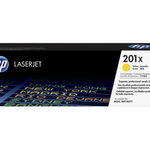 HP TONER LASERJET ORIGINAL 201X ALTA CAPACIDAD AMARILLO CF402X
