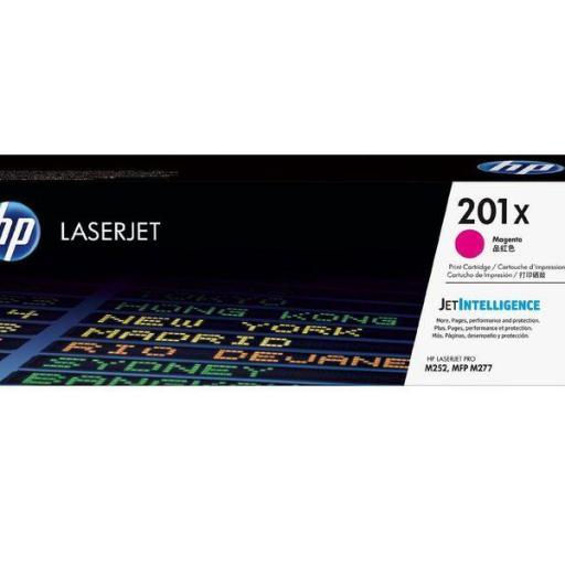 HP TONER LASERJET ORIGINAL 201X ALTA CAPACIDAD MAGENTA CF403X