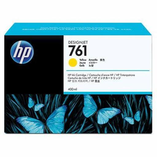 HP 761 Amarillo Cartucho de Tinta Original - CM992A 400 ml