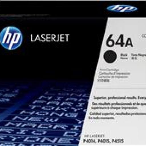 TONER NEGRO HP Nº64A PARA LASERJET P4015/P4014/P4515 [0]