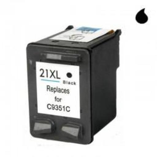 C9351AE CARTUCHO RECICLADO COMPATIBLE CON HP NEGRO (N 21XL) 21 ML