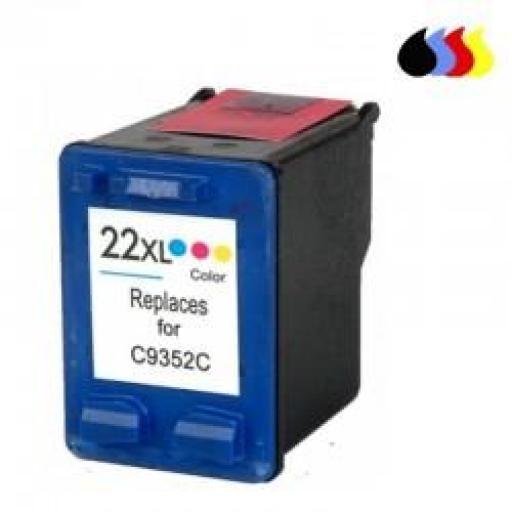 C9352AE CARTUCHO RECICLADO COMPATIBLE CON HP COLOR (N 22XL) 3X6 ML [0]