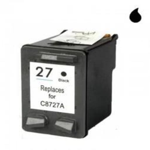 C8727A CARTUCHO RECICLADO HP NEGRO (N 27) 16 ML