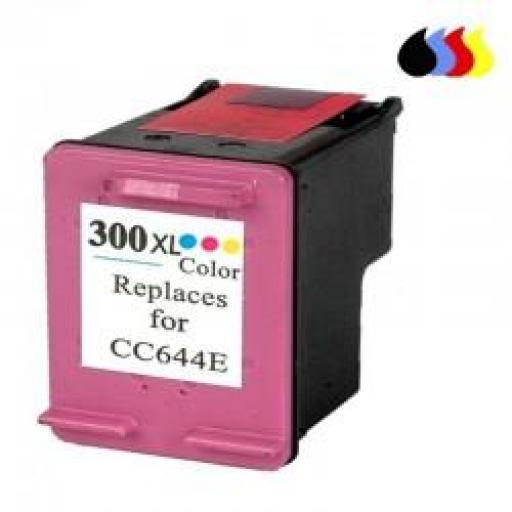 CC644EE CARTUCHO RECICLADO HP COLOR (N 300XLCL) 18 ML