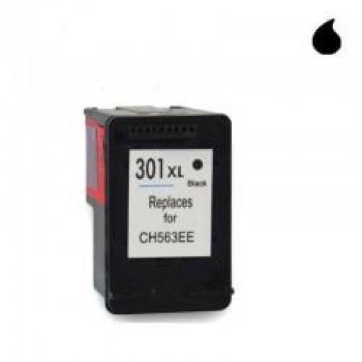 CH563EE CARTUCHO RECICLADO COMPATIBLE CON HP NEGRO N 301XLBK (18 ML) NEW MOD.
