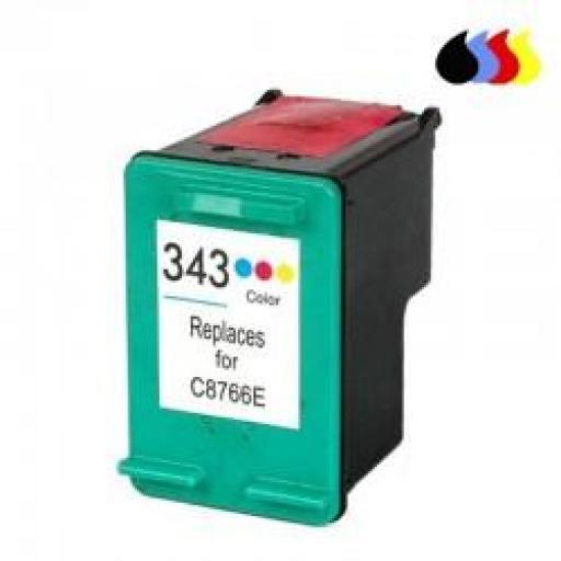 C8766EE CARTUCHO RECICLADO HP COLOR (N 343) 3X5 ML