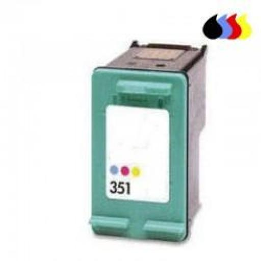 CB337EE CARTUCHO RECICLADO HP COLOR (N 351) 3X4 ML