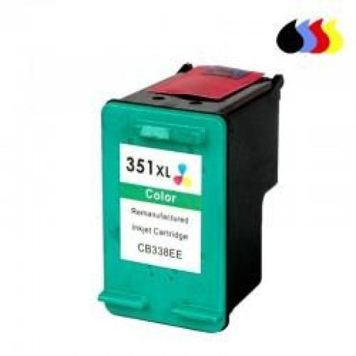 CB338EE CARTUCHO RECICLADO COMPATIBLE CON HP COLOR (N 351XL) 3X6 ML
