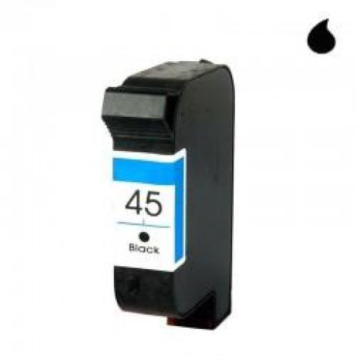 51645A CARTUCHO RECICLADO COMPATIBLE CON HP NEGRO (N 45) 40 ML