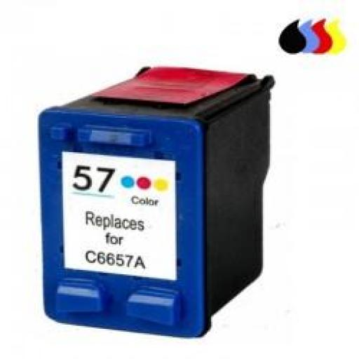 C6657A CARTUCHO RECICLADO COMPATIBLE CON HP COLOR (N 57) 3X6 ML
