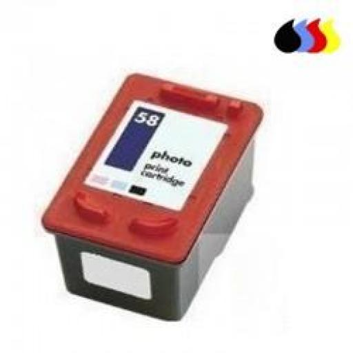 C6658A CARTUCHO RECICLADO HP COLOR (N 58) 3X6 ML