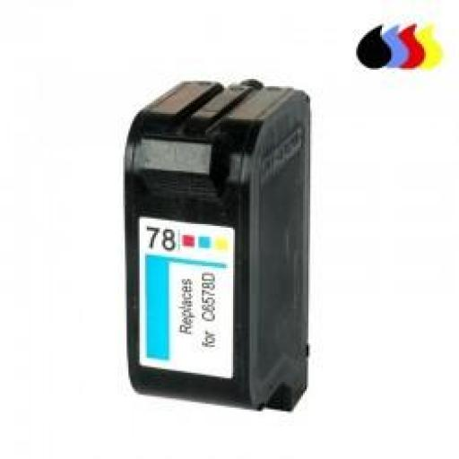 C6578A CARTUCHO RECICLADO COMPATIBLE CON HP COLOR (N 78) 3X10 ML