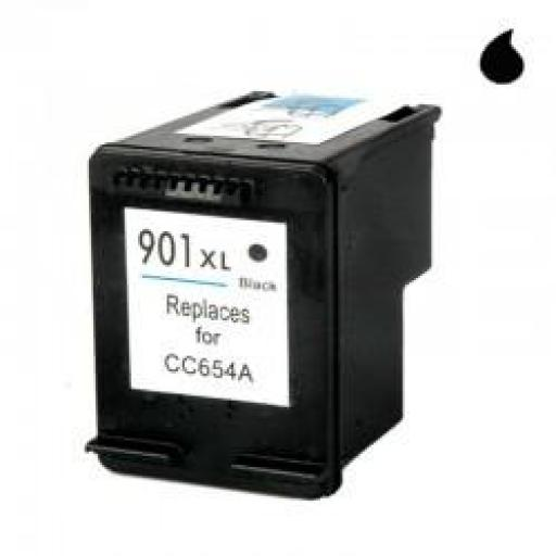 CC654AE CARTUCHO RECICLADO COMPATIBLE CON HP NEGRO (N 901XLBK) 20 ML