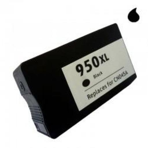 CN045AE CARTUCHO COMPATIBLE CON HP NEGRO GENERICO (N 950XLBK) 80 ML