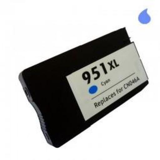 CN046AE CARTUCHO COMPATIBLE CON HP CYAN GENERICO (N 951XLC) 30 ML