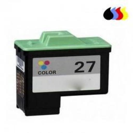 10NX227E CARTUCHO RECICLADO LEXMARK COLOR (N 27) 3X5 ML