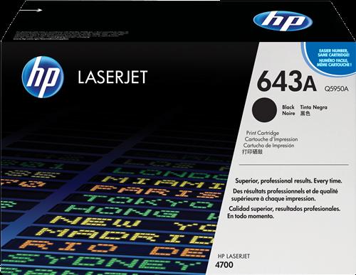 HP Toner Laser 643A Negro Q5950A