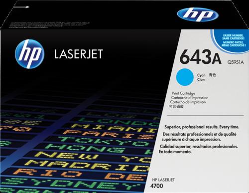 HP Toner Laser 643A Cyan Q5951A